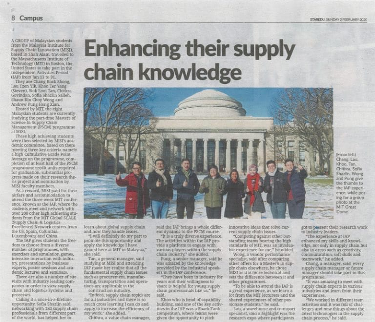 Enhancing their supply chain knowledge